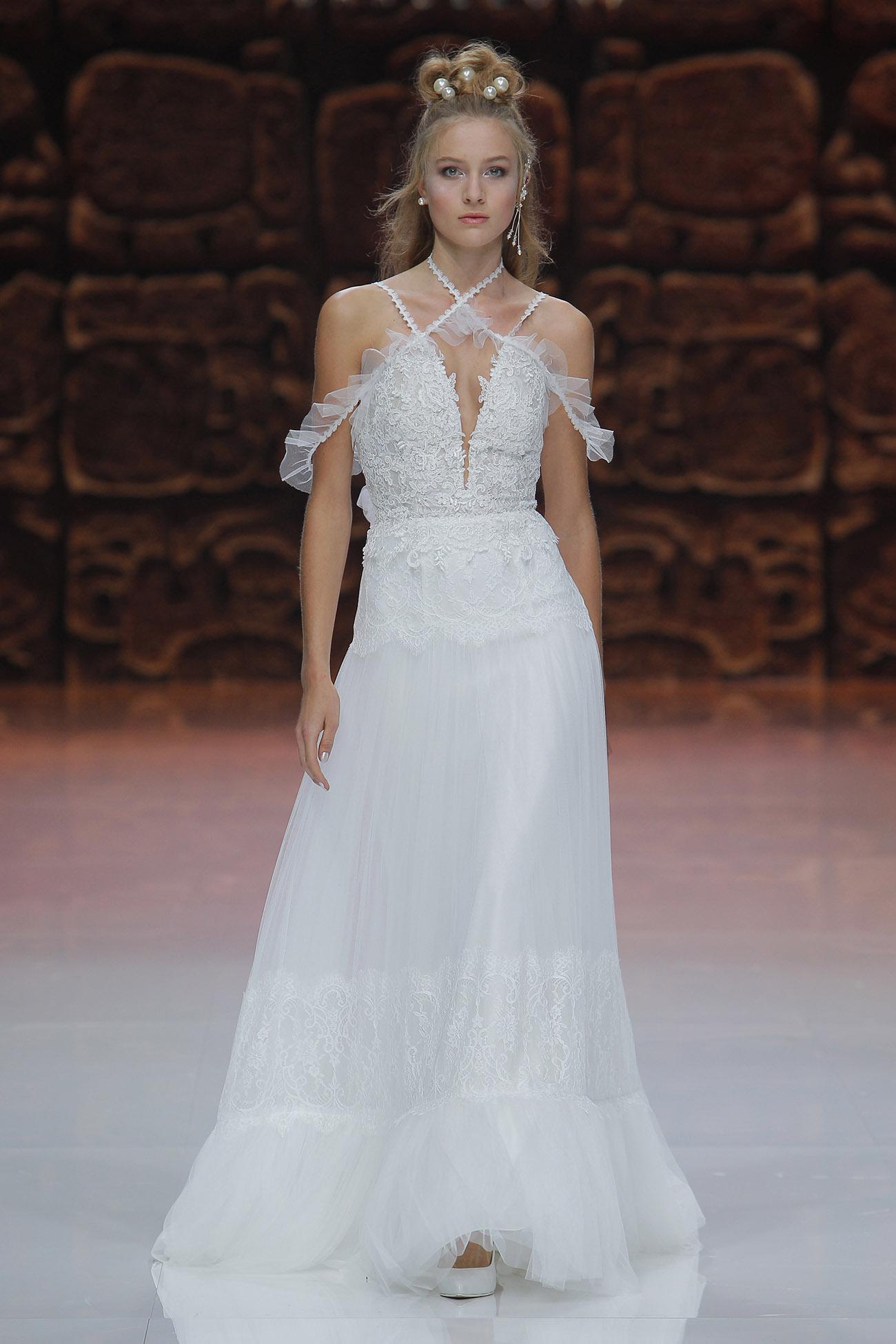 Enchanting Vestido Novia Yolan Cris Vignette - All Wedding Dresses ...